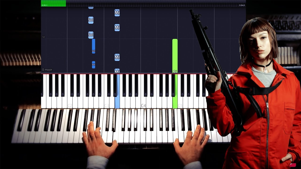 La Casa De Papel My Life Is Going On Cecilia Krull Synthesia Piano Tutorial Chords Chordify