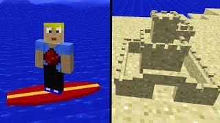 FERIEN in Minecraft! - Surfen, Sandburg bauen, Kajak fahren! Minecraft Vanilla