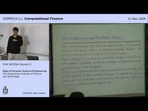 Lecture 17 - Portfolio Theory