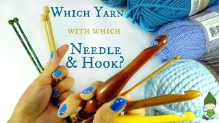Super Easy way to choose the right needle & hook for your yarn!