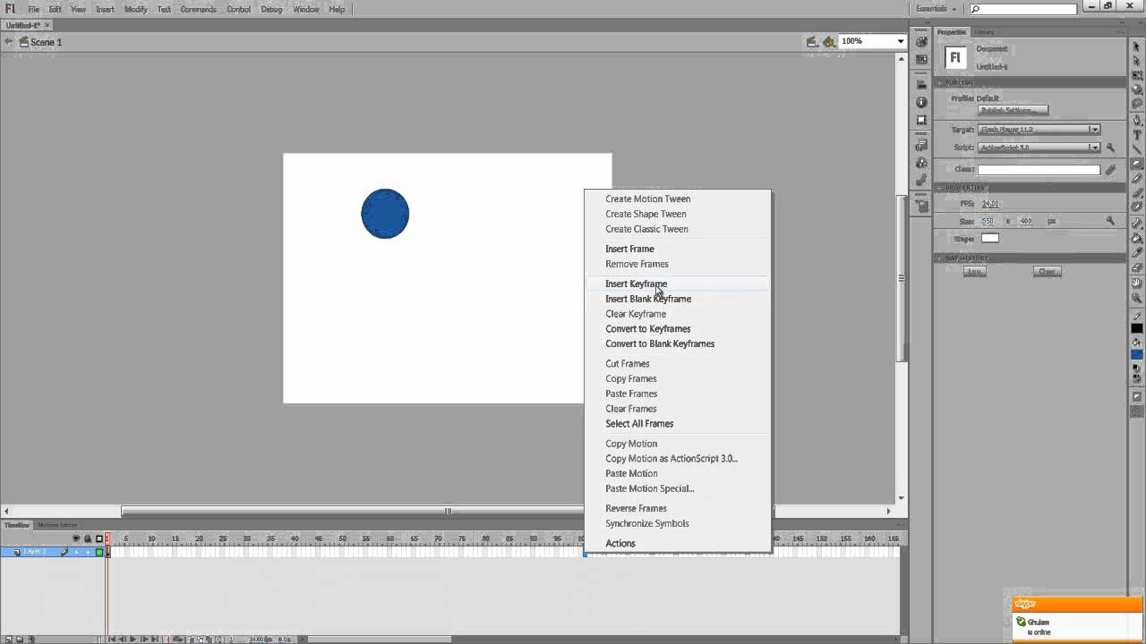 Object Moved: Adobe Flash CS6 Tutorial: Moving Objects
