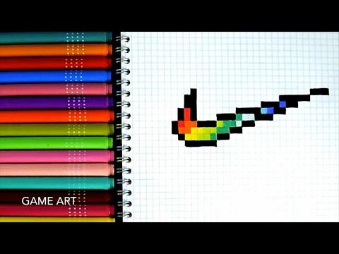 Tuto Comment Dessiner Le Logo Nike En Pixel Youtube