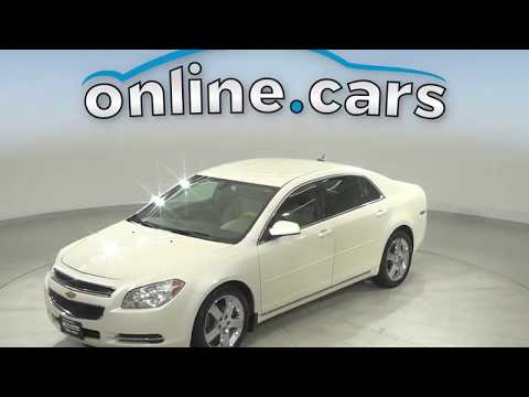 A13797ET Used 2011 Chevrolet Malibu White Sedan Test Drive, Review, For Sale