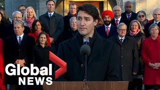 Trudeau unveils new, larger cabinet with 36 ministers