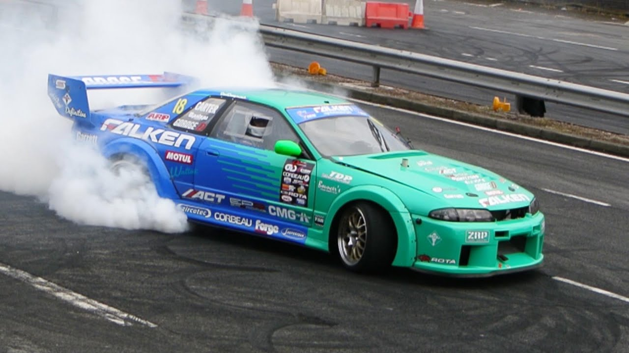 Awesome Team Falken Drifting On The Streets Of Coventry
