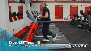 Cybex 625T Treadmill - How to use