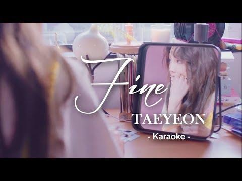 Taeyeon   Fine   Karaoke