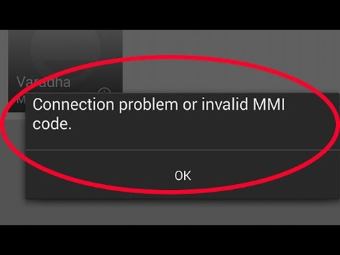 "How to fix ""connection problem or invalid mmi code"" error on samsung galaxy android mobile-USSD"