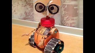 Мусорное искусство:КАК СДЕЛАТЬ РОБОТА  WALL-E СВОИМИ РУКАМИ(https://instagram.com/vol4ok.tv/ Приветствую Друзья !Сегодня я сделал робота WALL-E но теперь не из пластелина а прошло время..., 2015-03-16T00:19:02.000Z)