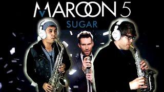 SUGAR - Maroon 5 - Soprano & Alto Sax Cover - BriansThing & Justin Klunk