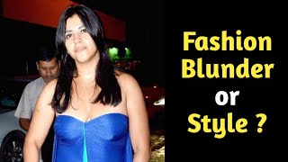 Ekta kapoor's worst wardrobe disaster and fashion blunder.