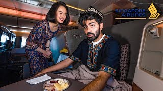 درجة الأعمال على طيران السنغافوري | رقم واحد بالعالم