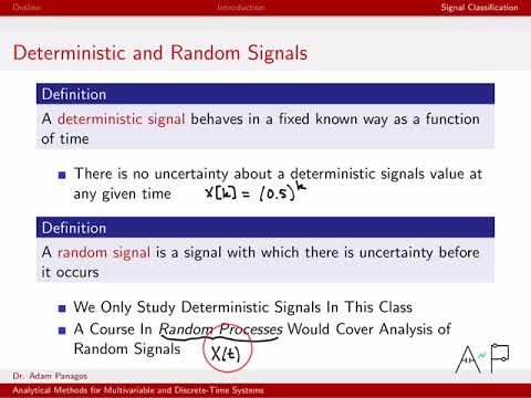 Discrete-Time Signals and Systems Part 1 (7/10) - Deterministic and Random Signals