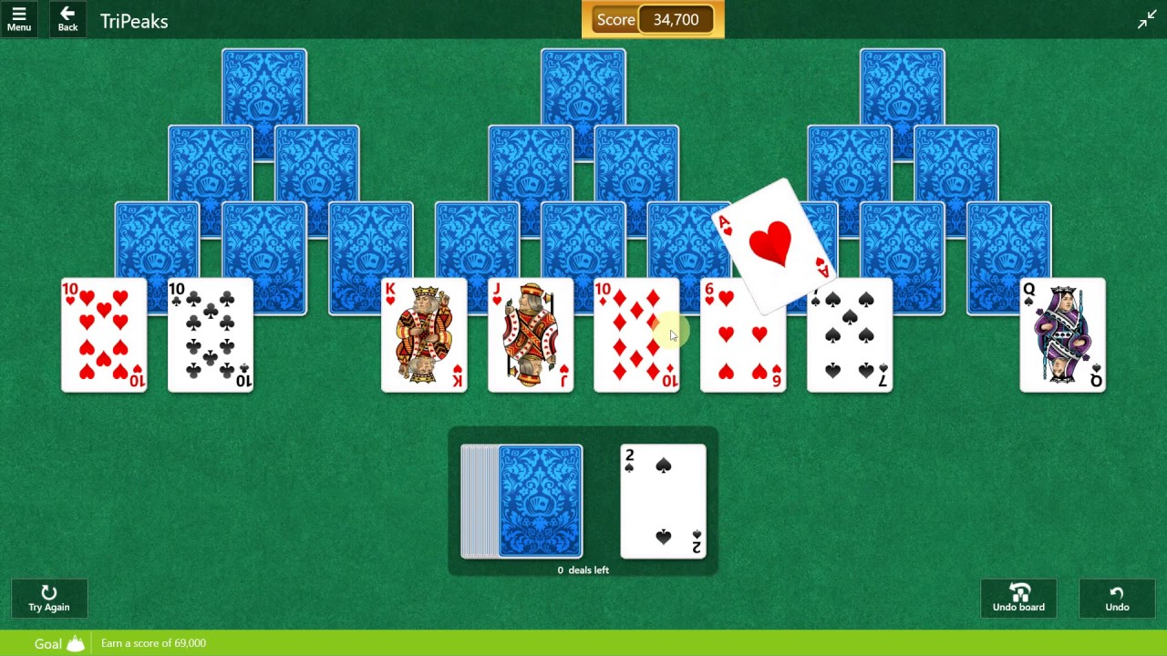 Free Tri Peaks Solitaire