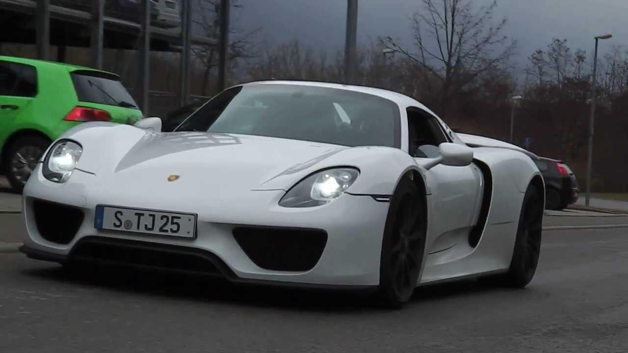 porsche 918 spyder 310 stuttgart part 5 youtube - Porsche Spyder 918 White
