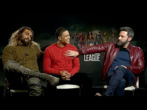"Does Ben Affleck like the term ""Batfleck""? Jason Momoa & Ray Fisher JUSTICE LEAGUE Interview"