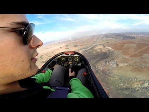My 200th Glider Flight! K13 Winch Launch, Flying & Landing - GoPro Cockpit View - Full Flight