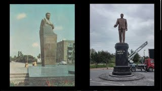 Şaumyanın heykəlinin yerinə Heydər Əliyevin heykəli qoyulanda...