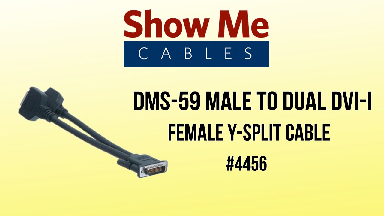 DMS-59 Male to Dual DVI-I Female Y-Split Cable #4456 - YouTube