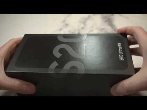 Samsung Galaxy S20 Ultra 5G Cosmic Gray Unboxing