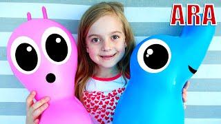 تظاهرت Ulya باللعب والمزاح مع والدتها ، أفضل مسلسل تلفزيوني للأطفال