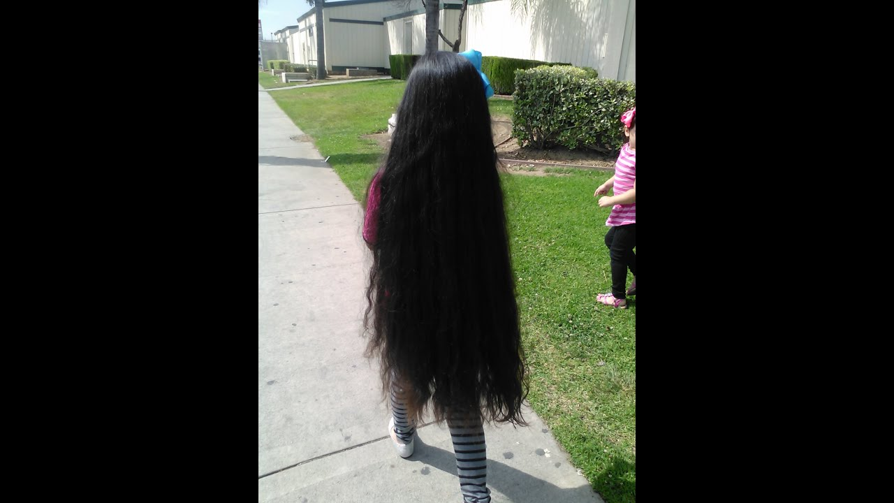rubi 6yrs old the youngest longest hair in the world