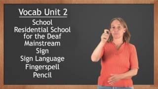 Американский жестовый язык Словарь 2 (бумага, карандаш, школа...)