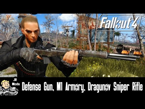 Fallout 4 Weapon Mods: Defense Gun, M1 Armory, Dragunov