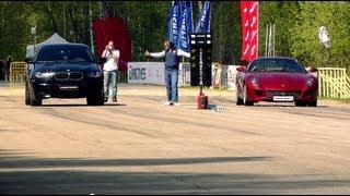 BMW X6M PP-Performance vs: Ferrari 599 Fiorano, Audi RS6 Evotech, BMW X6M Evotech