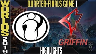 IG vs GRF Highlights Game 1 | S9 LoL Worlds 2019 Quarter-finals | Invictus Gaming vs Griffin G1