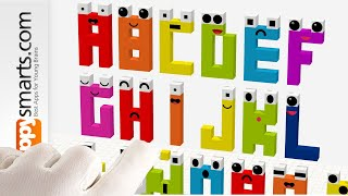 Building Funny Letter Blocks with Tayasui Blocks app - crafts tutorial for kids