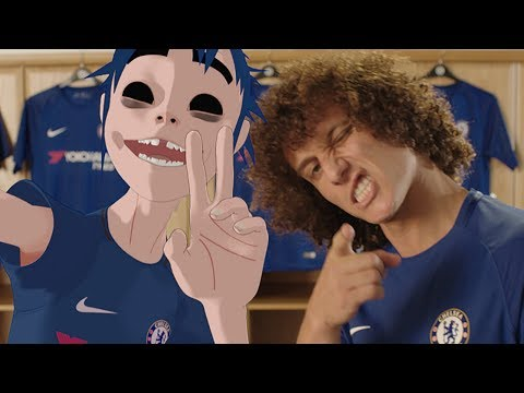 DAVID LUIZ AND 2D FROM GORILLAZ LAUNCH NEW CHELSEA NIKE KIT!