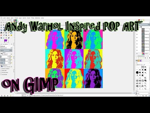 Make Your Own Andy Warhol Inspired Pop Art on GIMP