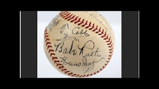 Baseball with signatures of 11 greats fetches $623,369