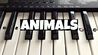 Animals - Maroon 5 | Easy Keyboard Tutorial With Notes (Right Hand)