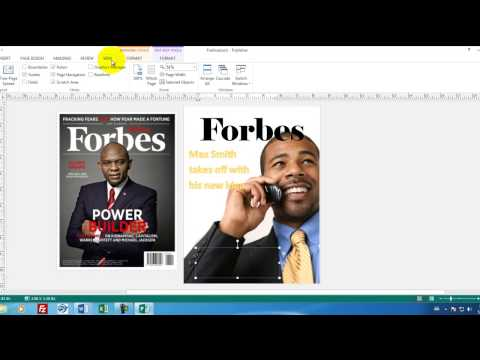 Microsoft Publisher 01 How to create a magainze cover in Publisher