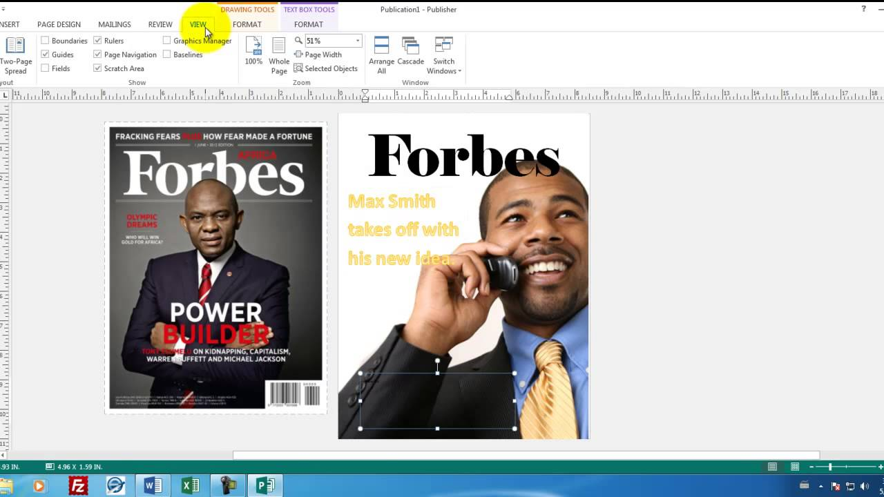 Create cover page in microsoft word | natural magazine cover.