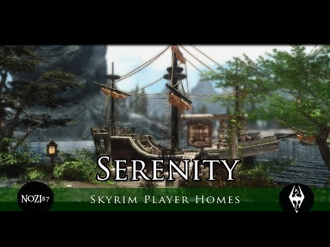 TES V - Skyrim Mods: Serenity - player house ship by Elianora - Leianne