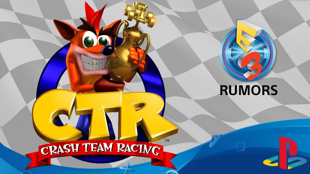crash team racing remastered e3 2017 rumor youtube