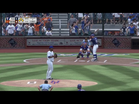 MLB The Show 17: Texas Rangers vs. New York Mets (08/09/17)