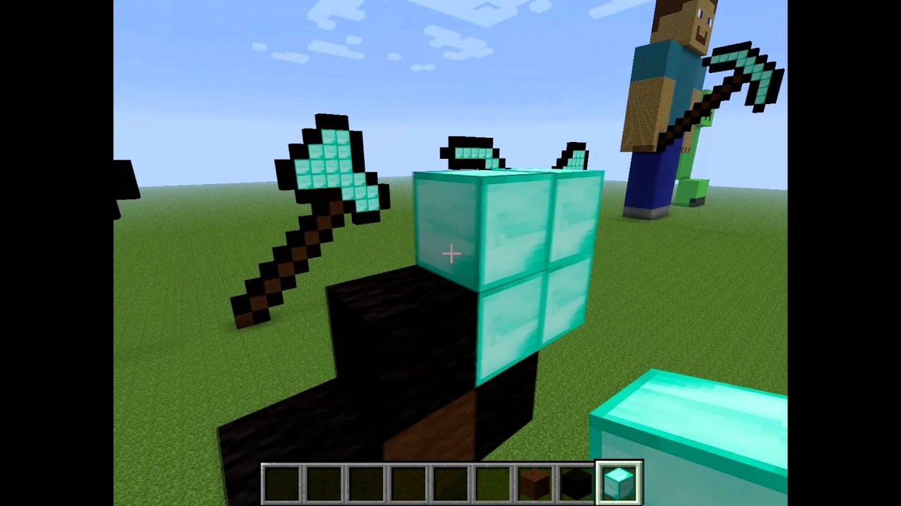 How to make a hoe in Minecraft 22