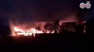 الشهود العيان يرون تفاصيل حريق وحدة مرور الجزيرة