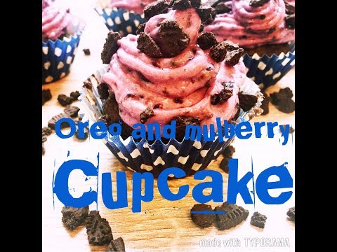 OREO AND MULBERRY CUPCAKE | How to make PRINCESS MUFFIN