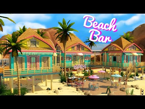 Sims 4 house build beach bar youtube for How to build a beach bar