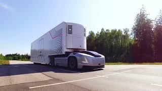 Volvo caminhão do futuro autônomos e elétricos