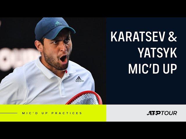 BEHIND THE SCENES: Karatsev Practice Session
