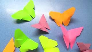 Как сделать бабочки из бумаги. Поделки оригами из бумаги своими руками без клея.