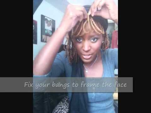 dreadlocks with bangs hairstyle tutorial   youtube