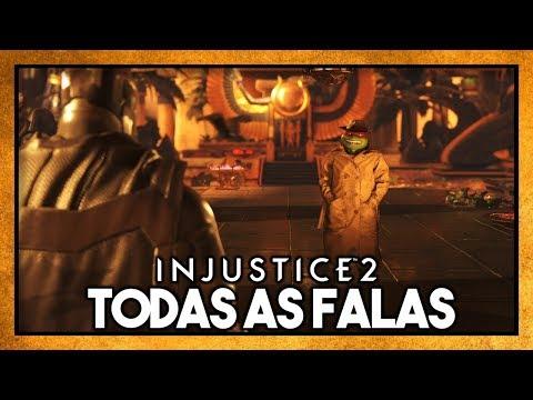 INJUSTICE 2: TODAS AS FALAS ENTRE RAPHAEL & BATMAN [TARTARUGAS NINJA]