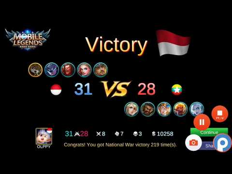 #89 Mobile legend get victory indonesia vs vietnam by using akai